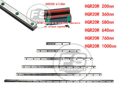 New Hiwin Hgr20 Series Hgr20r Linear Guide Way Rail Bar 100 To 1000mm Us Seller