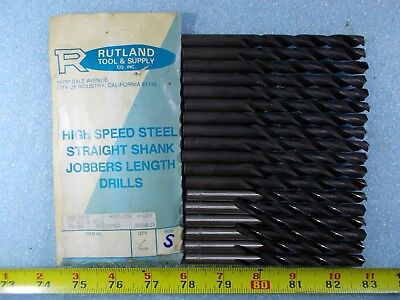 New Rutland Letter S .348 In Diameter X 5 Long Hss Jobber Length Drill Bit 6 Pc