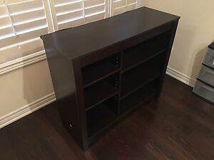 Bookcase Shelving Unit with Dark Wood