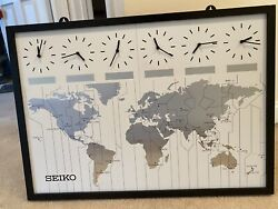 Seiko 24 Classic Six City World Time Wall Clock