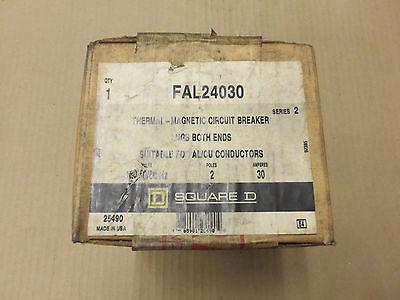 New Square D Fal Fal24030 2 Pole 30 Amp 480v Circuit Breaker New In Box