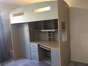 Single Bed with Built in Desk and Cupboard Manly West Brisbane South East Preview