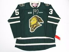 BO HORVAT OHL LONDON KNIGHTS GREEN CCM PREMIER 7185 HOCKEY JERSEY