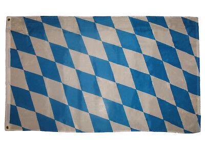 Oktoberfest Banner (3x5 Bavarian Checks Flag Bundesländer German State Oktoberfest Banner)