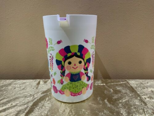New Tupperware Beautiful Jumbo Pitcher 1 Gallon Colorful Maria Doll Picture