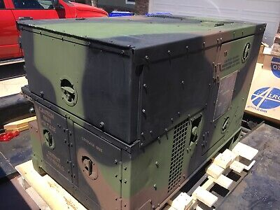 Mep802a Fermont Military Diesel 5kw Tactical Quiet Generator Only 20.2 Hours