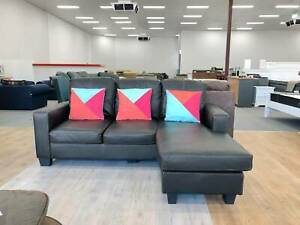 DELIVERY TODAY LUXURY MODERN LEATHER L shape sofa lounge couch