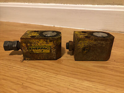 Lot Of 2 Enerpac Model Rs 40 4 Ton Hydraulic Cylinder