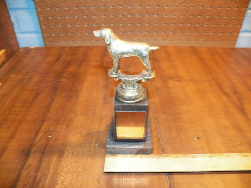 Vintage Dog Trophy - No Inscription - Metal Topper