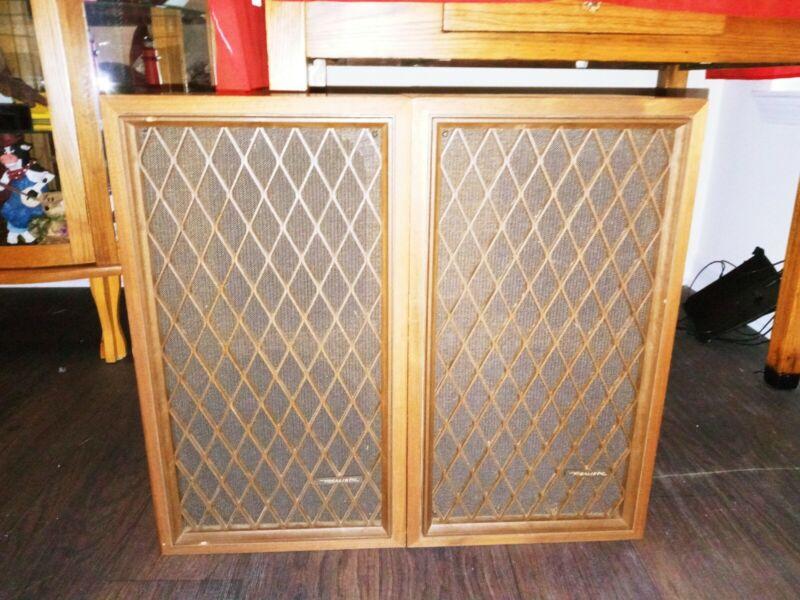Vintage Realistic Nova-7B Floor Speakers - WORKS Great Japan Made Excellent Con.