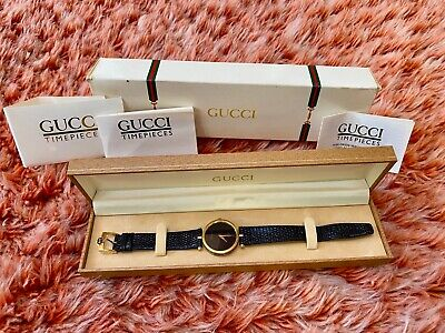 Vintage GUCCI 2000M 18k Gold Plated Watch