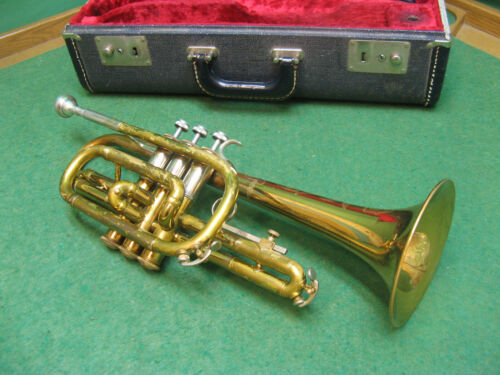 Selmer Bundy Deluxe Cornet 1947 - Refurbished - Case and Selmer Mouthpiece