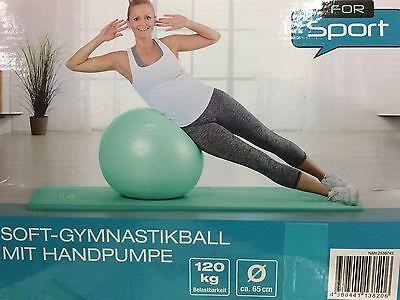 Gymnastikball Fitnessball Sitzball Yogaball Sportball inkl Pumpe 65 cm  Grün