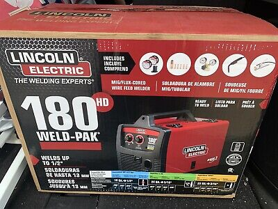 New Lincoln Electric 180 Hd Amp Weld Pak Mig Wire Feed Welder 180hd K2515-1