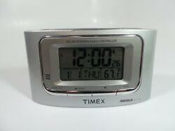 TIMEX T065 Solar Powered Radio Controlled Travel Digital Alarm Clock Indiglo