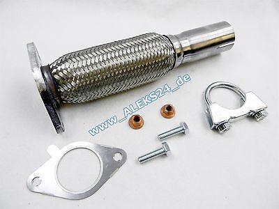 Kat Reparatursatz m. Montageteilen Flexrohr Hosenrohr Ford Fiesta *Edelstahl*