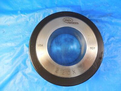 Mahr 2.1210 Dia Class X Master Plain Bore Ring Gage Undersize 2.125-.004 2 18
