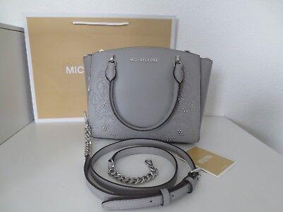 Satchel Schultertasche Handtasche (Michael Kors Tasche ELLIS SM SATCHEL ASH GREY Taschen Schultertasche Handtasche )