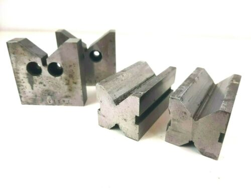 2 Pair of V Blocks - Machinists Toolmaker Workholding Setup Milling Tools