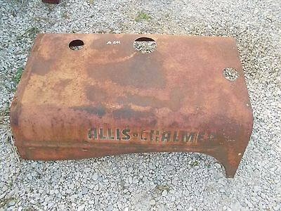 Allis Chalmers Wd Wd45 45 Wc Wf Tractor Original Engine Motor Hood Cover