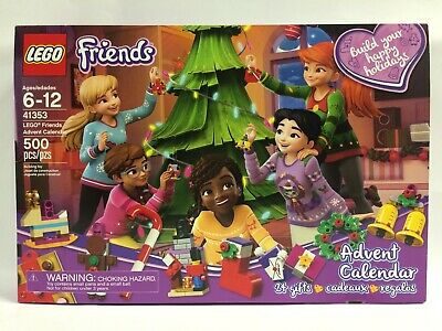 New In Worn Box w/ Sticker Residue LEGO 41353 Friends Advent Calendar 24 Gifts