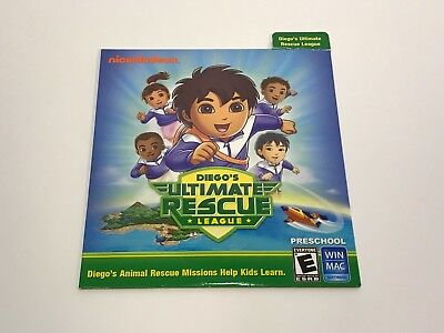 Nickelodeon Diego's Ultimate Rescue League Pre-School Play Learn CD-ROM - Preschool Learning Games New Cd