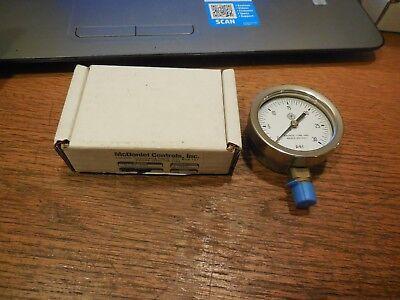Mcdaniel Controls 0-30 Psi Pressure Gauge 14 Npt 2-58 Diameter Face