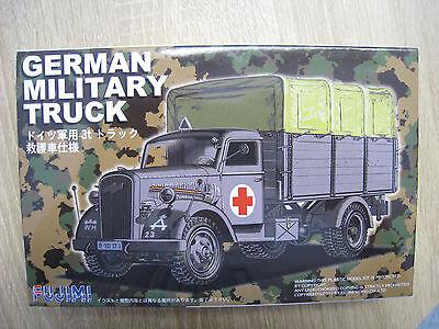 German Militär Truck ROTES KREUZ Bausatz Fujimi Maßstab 1:72 OVP NEU