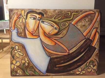 Large Nigel Gillings Painting (122x92cm)