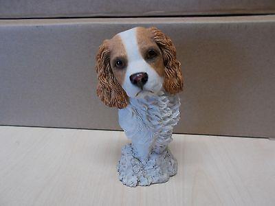 VINTAGE SHERRATT & SIMPSON DOG BUST OF A SPANIEL signed by B SNELSON
