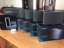 X4 Sonos PLAY:5 Speakers / Subwoofer / Booster Woolloomooloo Inner Sydney Preview