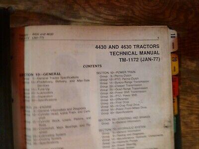 John Deere 4430 4630 Tractor Shop Service Repair Technical Manual Tm-1172