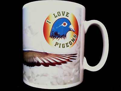 I Love Pigeons Gift Mug Pigeon racers, racing, fanciers