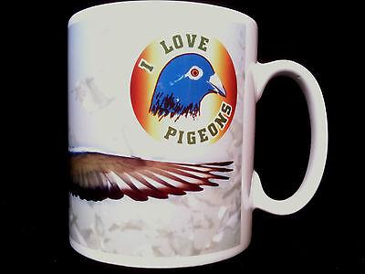 I Love Pigeons Gift Mug Pigeon racers, racing, fanciers