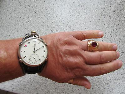 Taschenuhrhalter Fassung aus Silber 925