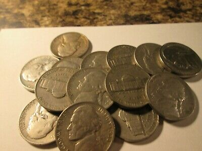 1938-S JEFFERSON NICKELS 14 COINS MIXED GRADES 14 COINS N70 - $68.39
