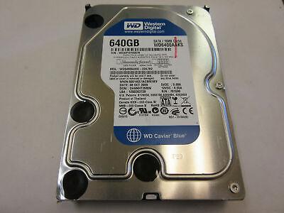 "Western Digital 640GB 7200RPM 3.5"" SATA Desktop Hard Drive WD6400AAKS, used for sale  Shipping to Nigeria"