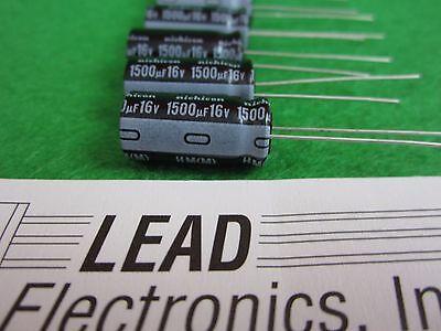 Nichicon 6pcs 1500uf 16v Radial Low-esr 105-deg Mother Board Capacitor