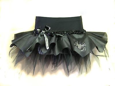 PLUS SIZE HALLOWEEN TUTUS - FANCY DRESS COSTUME OUTFIT - BLACK MINI SKIRT GOTH