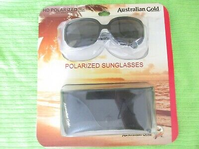 Australian Gold Sport Style Black Polarized Sunglasses Metal Hinges - (Australian Gold Sunglasses)