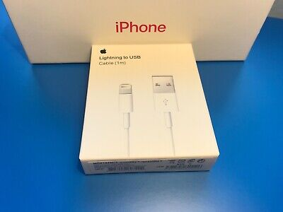 Genuine Original iPhone charger cable Apple Lightning USB 1m lead 5 6 7 8 X