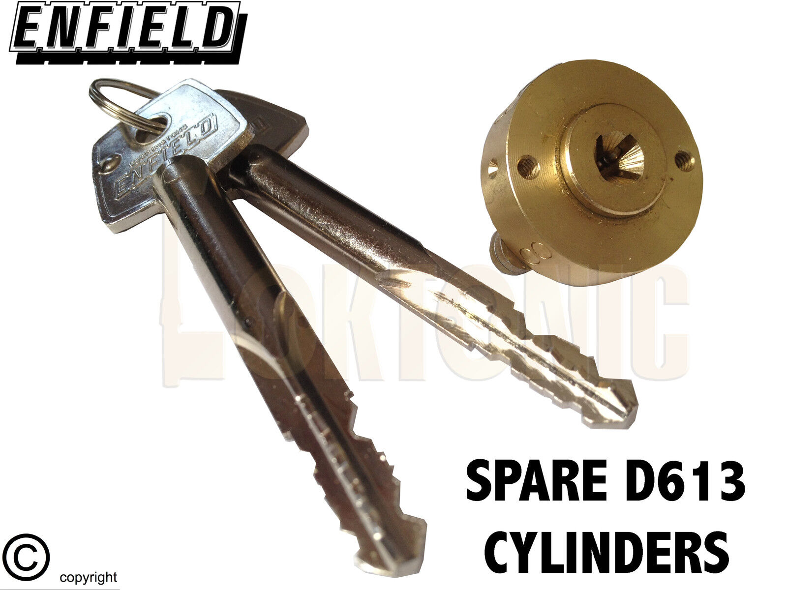 Enfield D613 Garage Door Locks Bolts Replacement Spare
