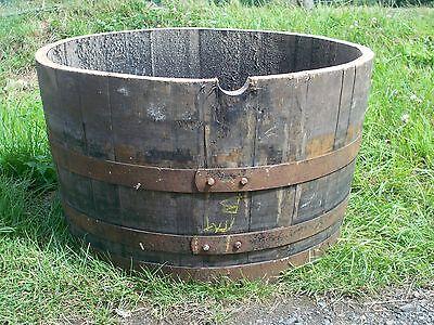 Half oak barrel planters 29