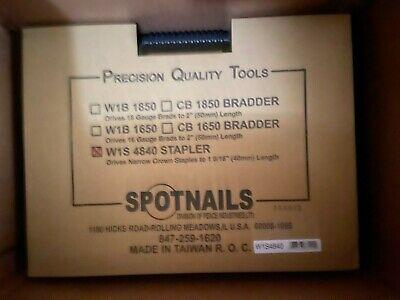 New Spotnails W1s4840 Narrow Crown 18 Gauge Stapler For Senco Staples 14 Crown