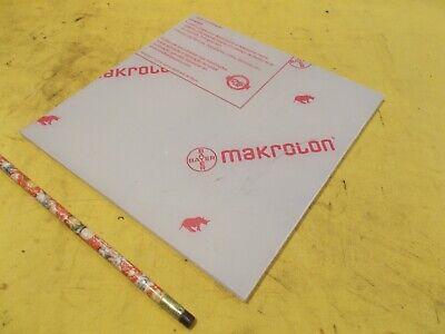 Makrolon Clear Polycarbonate Sheet Glazing Plastic Flat Stock .220 X 8 X 8