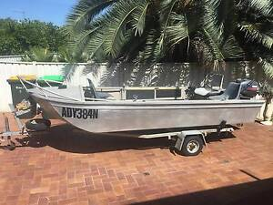 Solid Aluminium Inland Fishing Boat with Trailer, Both Registered Moree Moree Plains Preview