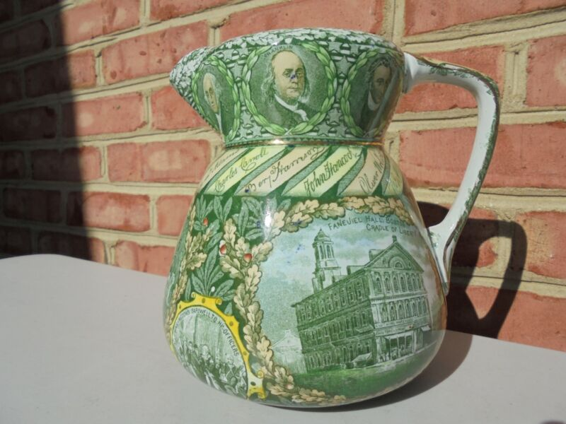 Antique Vintage Rowland & Marsellus American Independence Pitcher