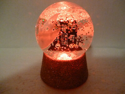 Hallmark Halloween Haunted House Snow Globe Changes Colors NEW with Tag
