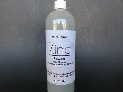 Zinc Dust Powder 5 Lb 2270 G Free-flowing 99 Pure Super Fine 5-8 Micron