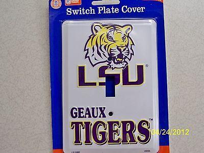 (Louisiana State University, LSU Tigers NCAA football single light switch cover !)